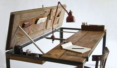 I love this reuse and redesign of this antique desk, it's lovely and functional.