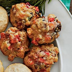 Fruitcake Cookies! Chock-full of dried fruit and pecans, these chewy two-bite nibbles won't be relegated to the re-gift pile.