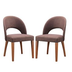 Set of 2 Lucas Mid-Century Style Walnut Dining Chair - Overstock Shopping - Great Deals on Baxton Studio Dining Chairs