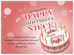 Niece Birthday Messages: Happy Birthday Wishes for Niece Wordings and Messages