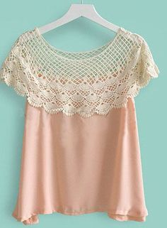 nice Crochet Floral Lace Cape Collar. This would be good for ladies of a certain age ...