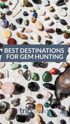 Who doesn't love a good old fashioned adventure? Love gems and precious stones? These 7 destinations are perfect for RVers looking to hunt rocks. Road Trip Destinations, Vacation Places, Amazing Destinations, Places To Travel, Places To Go, Vacations, Vacation Ideas, Minerals And Gemstones, Rocks And Minerals