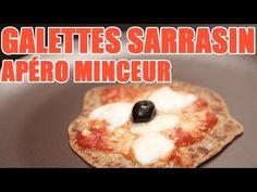 Recette minceur de crêpes sarrasin façon pizza par Valérie Orsoni - YouTube
