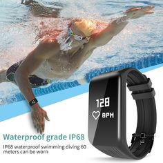 New Fitness Tracker Smart Bracelet Real-time Heart Rate Monitor down to sec Charging 2 hours waterproof watch Whitening Cream For Face, Skin Whitening, Swimming Diving, Remote Camera, Settings App, Hydroponics System, Waterproof Watch, Smart Bracelet, Heart Rate Monitor