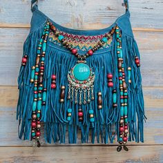 Tribal fringe boho hippie bag, beaded hippie cross body bag, gypsy bag with tassels, Hippie Purse, Hippie Bags, Boho Bags, Handmade Handbags, Leather Bags Handmade, Handmade Bags, Botas Boho, Estilo Hippie Chic, Fringe Bags
