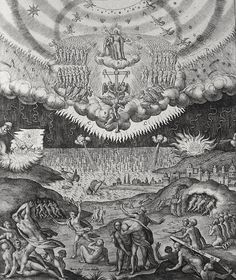 Phillip Medhurst presents Bowyer Bible print 3903 The last judgment Matthew 24:29-30 Passeri engraved by Wierix on Flickr. A print from the Bowyer Bible, a grangerised copy of Macklin's Bible in Bolton Museum and Archives, England.