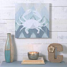 Coastal Chevron II Canvas Art Print | Kirklands