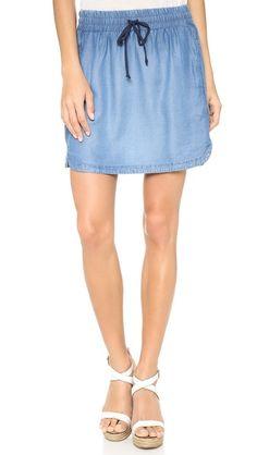 Splendid Chambray Mini Skirt