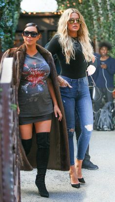 Kim & Khloe out in NYC - September 15, 2015