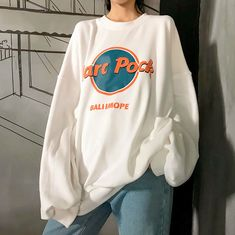Harajuku Harc Pock Printed Fleece Sweatshirt - Harajuku Harc Pock Printed Fleece Sweatshirt The Effective Pictures We Offer You About outfits A q - Tokyo Street Fashion, 90s Fashion, Korean Fashion, Fashion Outfits, French Fashion, Fashion Pants, Retro Fashion, Fashion Ideas, Vintage Fashion