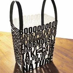 bag with a statement