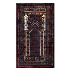 Herat Oriental Afghan Hand-knotted Tribal Balouchi Navy/ Rug