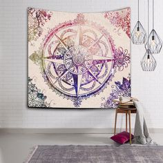 Wall Hanging Indian Mandala Tapestry 229x150cm Bohemian Bedspread Dorm Cover Yoga Mat Beach Towel Home Room Wall Art Decor GT10