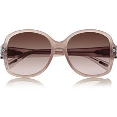 Lanvin D-frame metal and acetate sunglasses ($193) ❤ liked on Polyvore featuring accessories, eyewear, sunglasses, brown, clear acetate glasses, lanvin glasses, brown glasses, clear glasses y brown gradient sunglasses