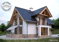 House Project LK&1130 Home Building Design, Home Design Plans, Building A House, Simple House Design, Modern House Design, Modern Bungalow House, Design Exterior, Village House Design, Bungalow Renovation