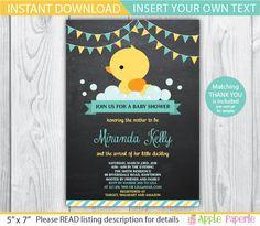 duck baby shower invitation / duck baby shower invites /