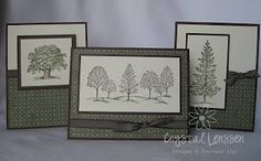 Stampin Up: Lovely as a Tree.  Card set.