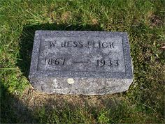 William Jess Flick My maternal grandfather's grave