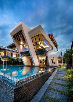 Modern Luxury Home with Amazing Pool, Villa Mistral by Mercurio Design Lab - Singapore