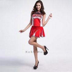 Glee Style Cheerleading Varsity Cheerleader Girl Uniform Costume Outfit