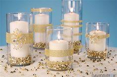 Gold Rhinestone Candle Holders Live.Craft.Love.