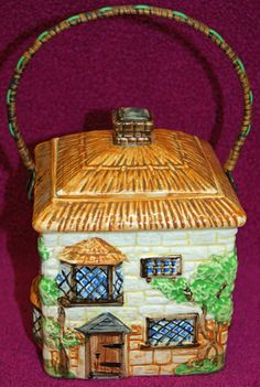 Vintage Beswick Cottage Ware Biscuit Barrel