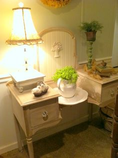 Magazine Your Home: No Mirror? No Problem - cute upcycle of a vanity table missing the mirror.