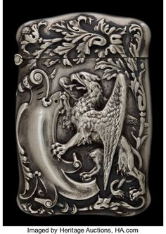 Silver Smalls:Match Safes, A BATTIN SILVER AND SILVER GILT MATCH SAFE . Battin & Co.,Newark, New Jersey, circa 1900. Marks: (B with trident),STERLI...