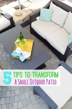 5 Tips to Transform a Small Patio Into a Fabulous Outdoor Space | eBay (spon)