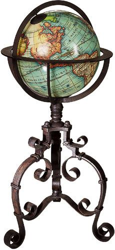 Baroque Antique Globe 18th century (reproduction) from AM.