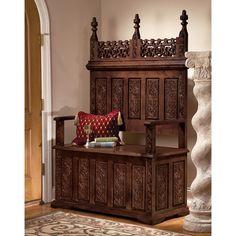 Design Toscano York Monastery Hardwood Entryway Storage Bench & Reviews | Wayfair