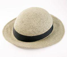 Bandbox straw hat is an actual helmet!