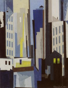 """""""View of New York"""" by Sheeler"""