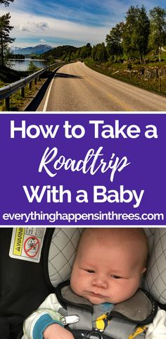 Taking a road trip with a baby doesn't have to be complicated and you definitely don't have to pack everything in your house. Here's a guide on what to pack and what to leave when traveling with a baby. #baby #roadtrip