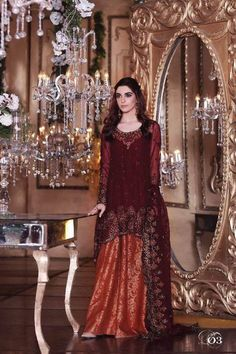 Maria B Mbroidered Chiffon Eid Collection 2017 With Prices & Stitching Online Buy in New Zealand, Fiji, Japan. Pakistani Dresses Online, Eid Dresses, Pakistani Outfits, Bridal Dresses, Chiffon Dresses, Pakistani Clothing, Party Dresses, Shadi Dresses, Indian Outfits