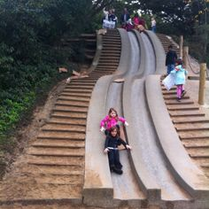 Golden Gate Park | San Francisco, California | Bay area | loved this slide, gotta take kids here! Bring cardboard to go down the slide faster and protect your clothes, at the same time! :)