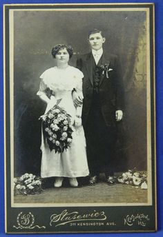 Wedding Photo Early 1900s Cabinet Card Big by QueeniesCollectibles, $14.99