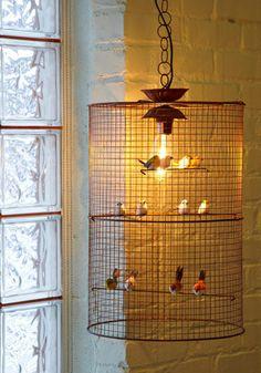 Birdcage light ~ nice.
