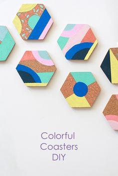 Colorful Coasters DIY - Jest Cafe