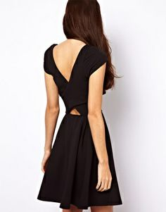 Skater Dress With Cut Out Sides