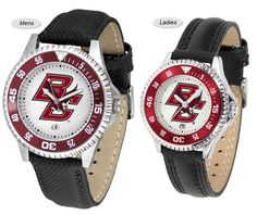 The Competitor Sport Leather Boston College Watch is available in your choice of Mens or Ladies styles. Showcases the Eagles logo. Free Shipping. Visit SportsFansPlus.com for Details.