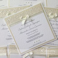 Elegant Wedding Invitation Set Champagne Wedding Invitation