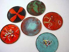 Copper ENAME COASTERS