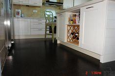 iCork Floor Black Beach flooring - beautiful espresso color.