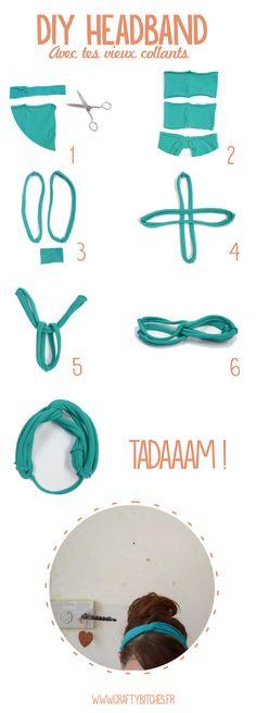 Crafty Bitches - Blog DIY, Couture, Déco, Vintage. Tuto couture, Do it yourself, décoration, rétro.: DIY : 10 accessoires (minimum) à réaliser avec un collant troué. No-sew, No-glue !