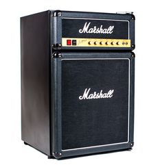 The Marshall Fridge is the company's way of bringing the essence of their amps to any pad—no guitar skills necessary. You get Marshall's classic style—in refrigerator form—that stores sodas or ice-cold beers.