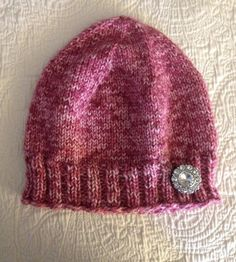Look pretty in pink wearing this snuggly hat on those chilly days! This hat should fit most teens and adults.