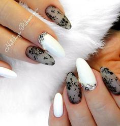 50 Winter Nail Art Designs 2019 50 Winter Nail Art Designs 2019 These trendy Nails ideas would gain you amazing compliments. Check out our gallery for more ideas these are trendy this year. Black And White Nail Art, White Nails, Black White, White Nail Designs, Nail Art Designs, Nail Art Blanc, Galeries D'art D'ongles, Nails Kylie Jenner, Lace Nails