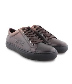 fef8e89f976912 Brown Calfskin Sneakers – outtlet.com Men s Footwear