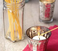 Dry spaghetti for lighting candles or anything when you don't have a long matches.